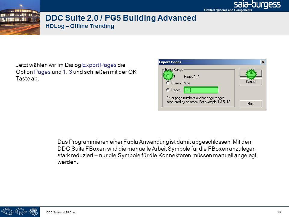 DDC Suite 2.0 / PG5 Building Advanced HDLog – Offline Trending
