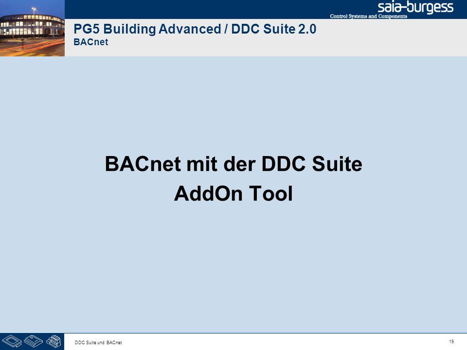 PG5 Building Advanced / DDC Suite 2.0 BACnet