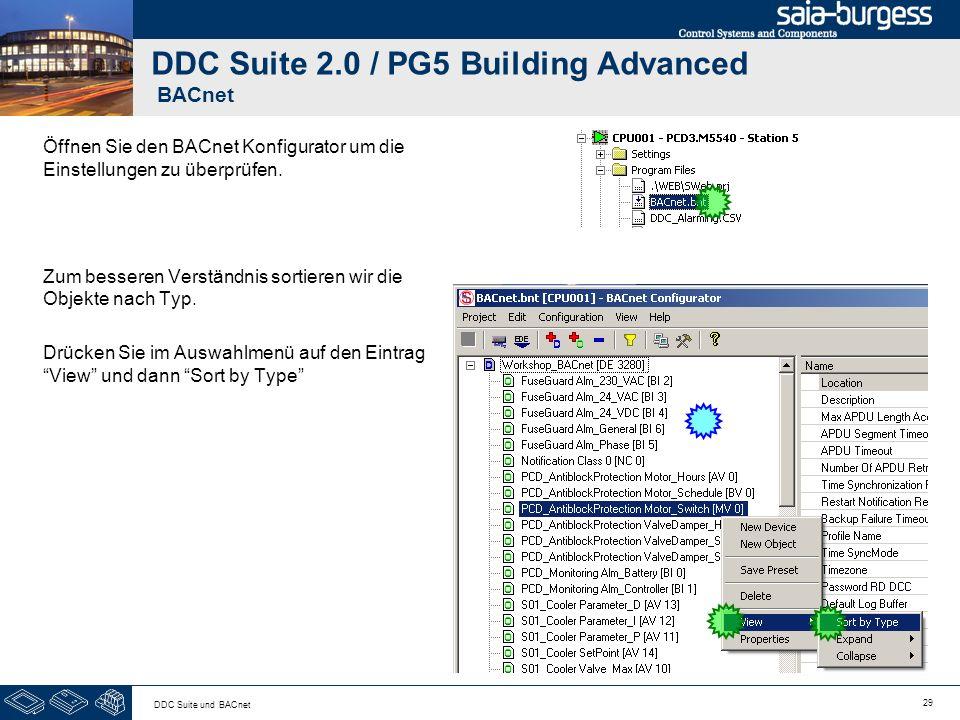 DDC Suite 2.0 / PG5 Building Advanced BACnet
