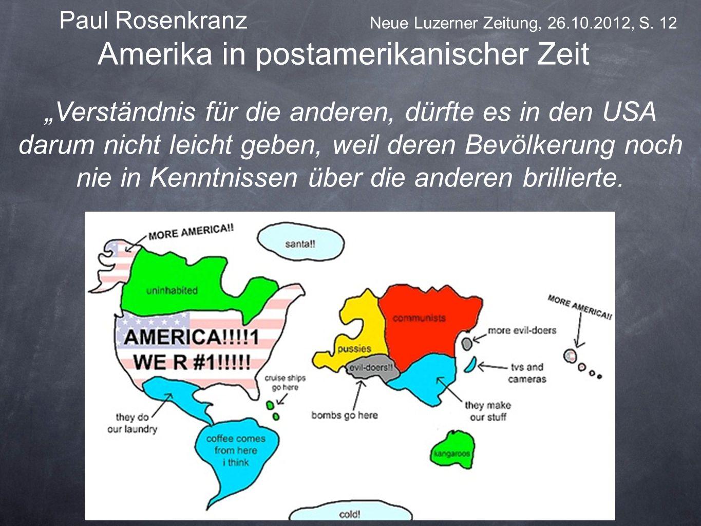 Amerika in postamerikanischer Zeit