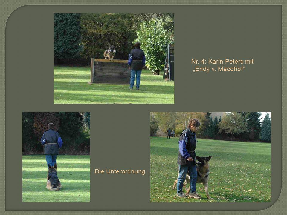"""Nr. 4: Karin Peters mit """"Endy v. Macohof Die Unterordnung"""