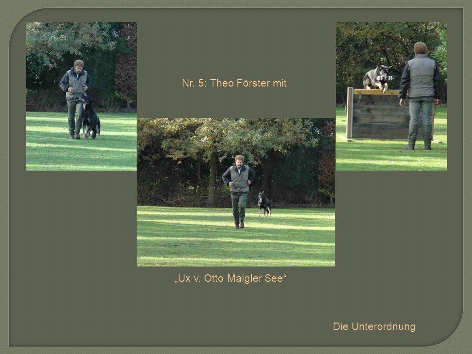 """Nr. 5: Theo Förster mit """"Ux v. Otto Maigler See Die Unterordnung"""