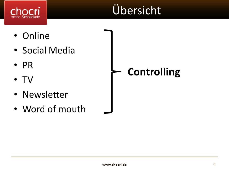 Übersicht Controlling Online Social Media PR TV Newsletter