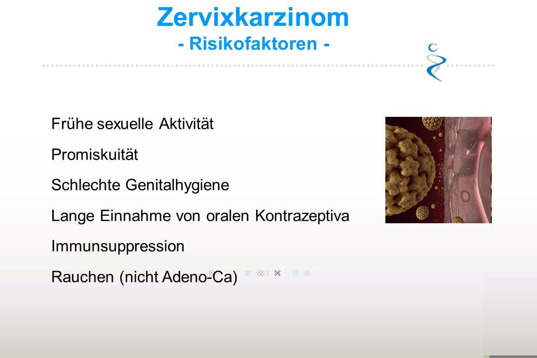 Zervixkarzinom - Risikofaktoren - Frühe sexuelle Aktivität