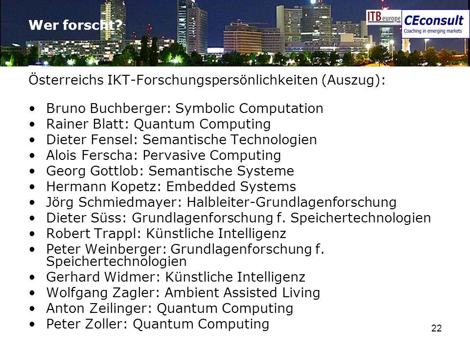 Wer forscht Österreichs IKT-Forschungspersönlichkeiten (Auszug): Bruno Buchberger: Symbolic Computation.