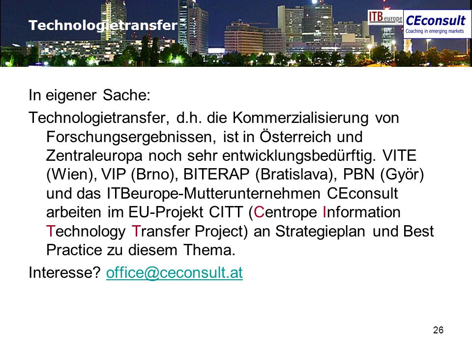 Interesse office@ceconsult.at