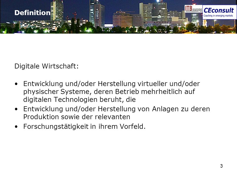 Definition Digitale Wirtschaft: