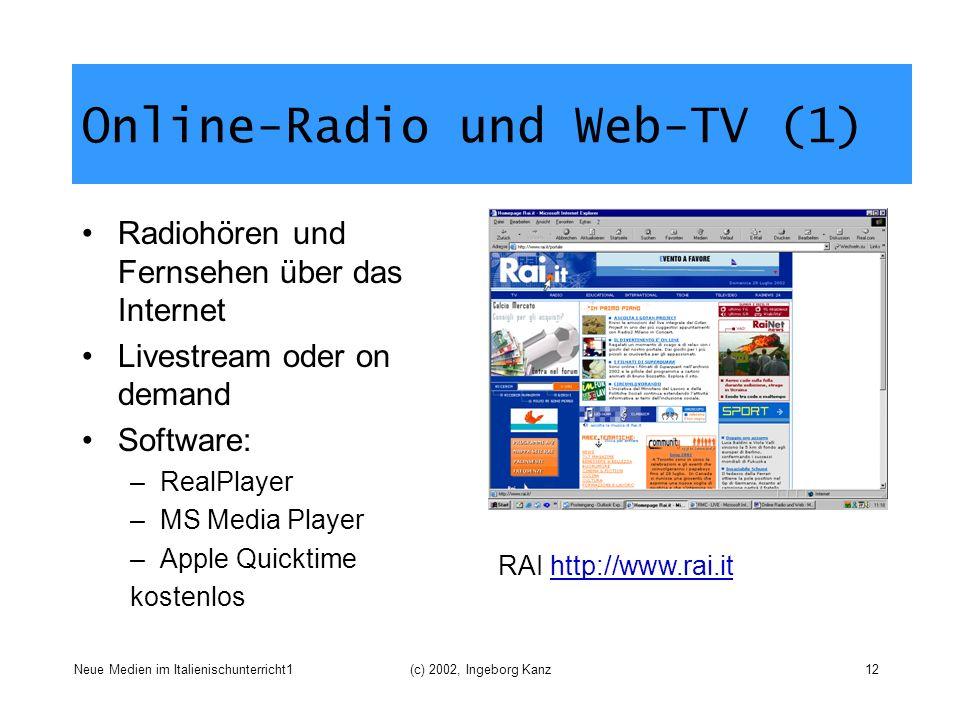 Online-Radio und Web-TV (1)