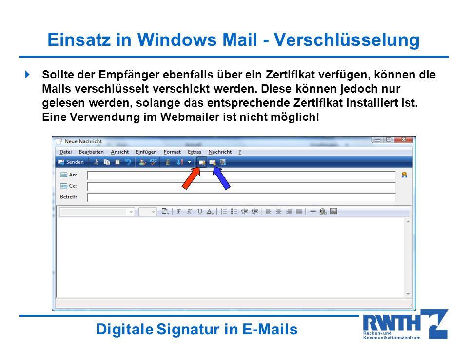 verschlüsselte mails verschicken