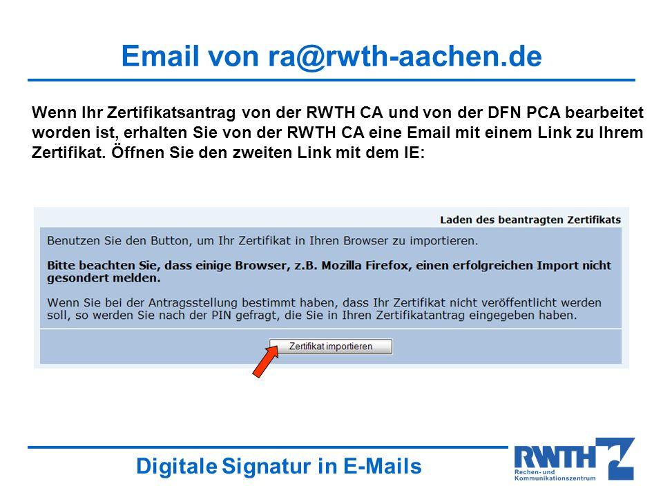 Email von ra@rwth-aachen.de