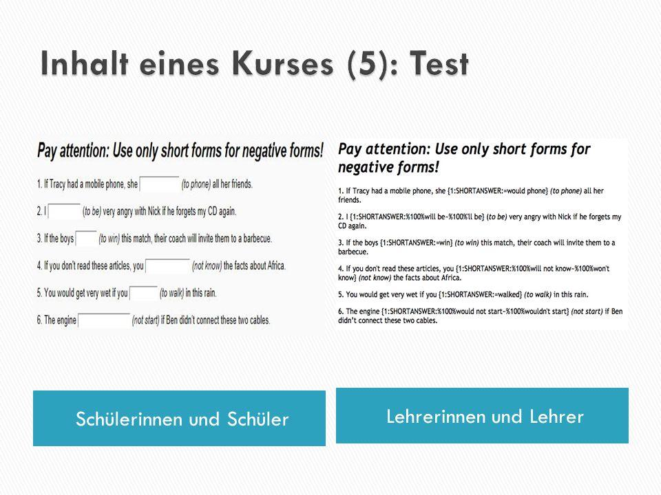 Inhalt eines Kurses (5): Test