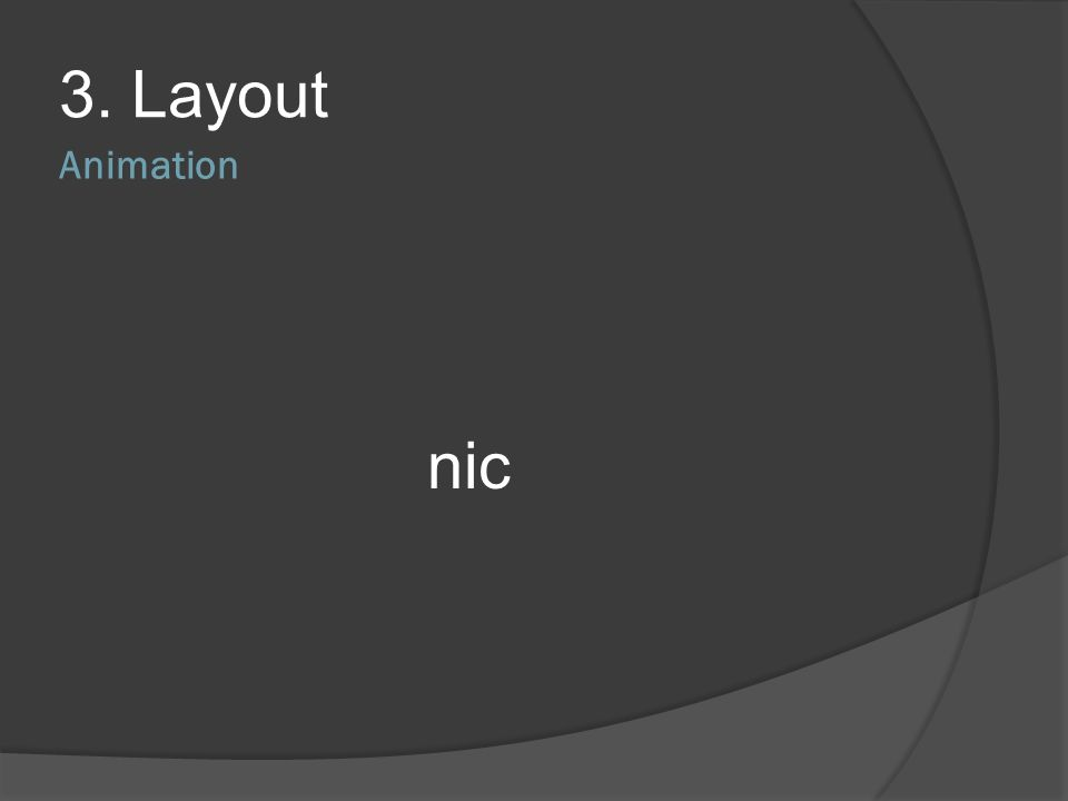3. Layout Animation nic