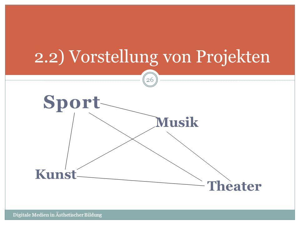 2.2) Vorstellung von Projekten