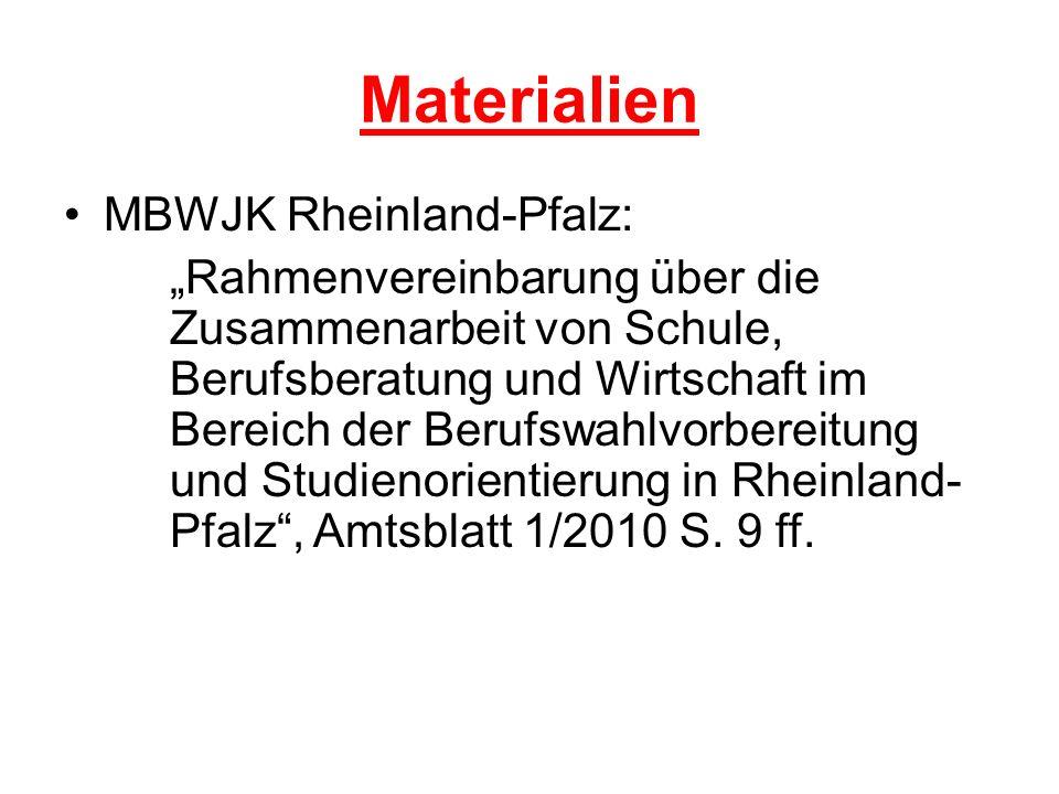 Materialien MBWJK Rheinland-Pfalz: