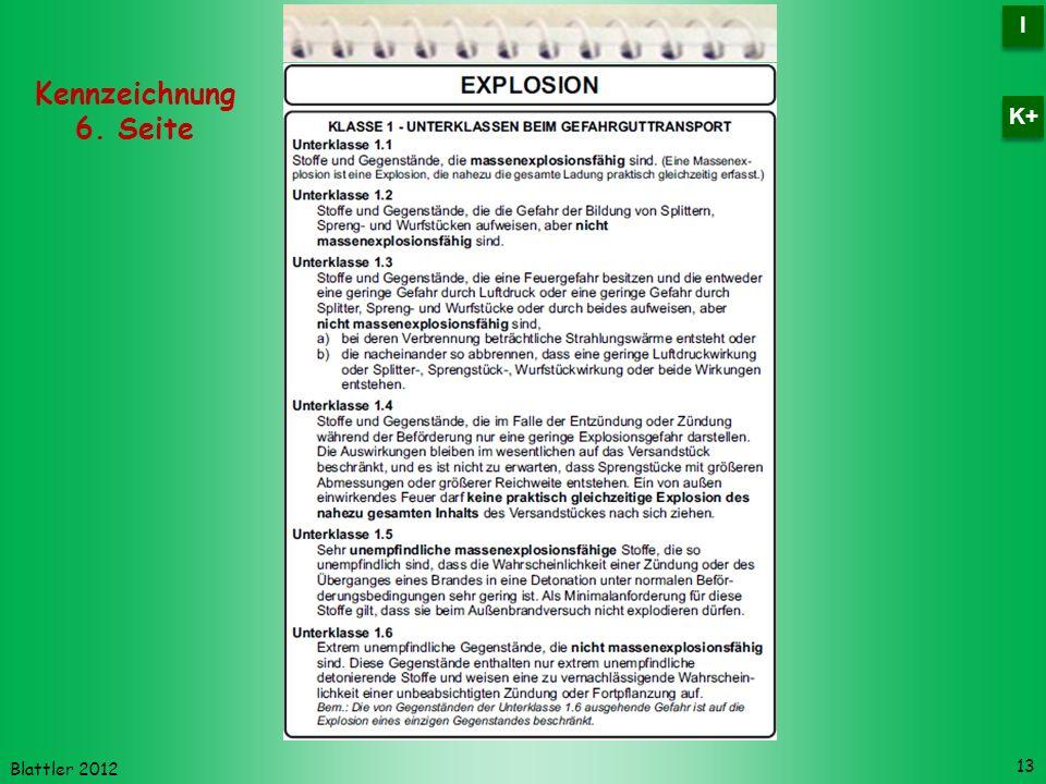 I K+ Kennzeichnung 6. Seite Blattler 2012
