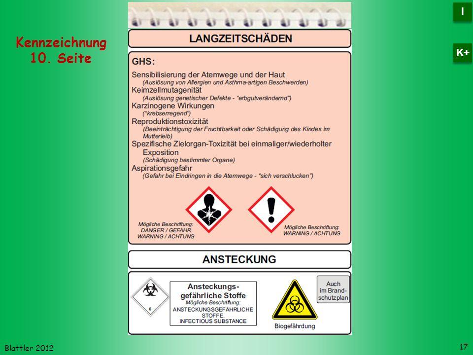 I K+ Kennzeichnung 10. Seite Blattler 2012