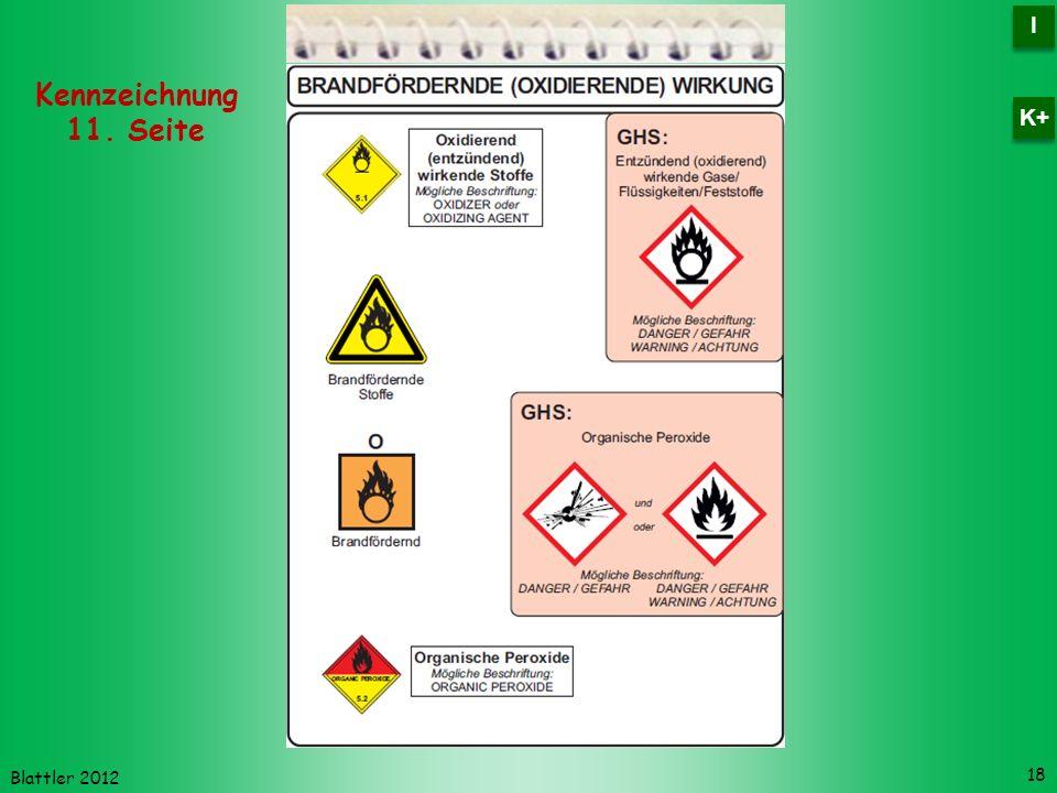 I K+ Kennzeichnung 11. Seite Blattler 2012