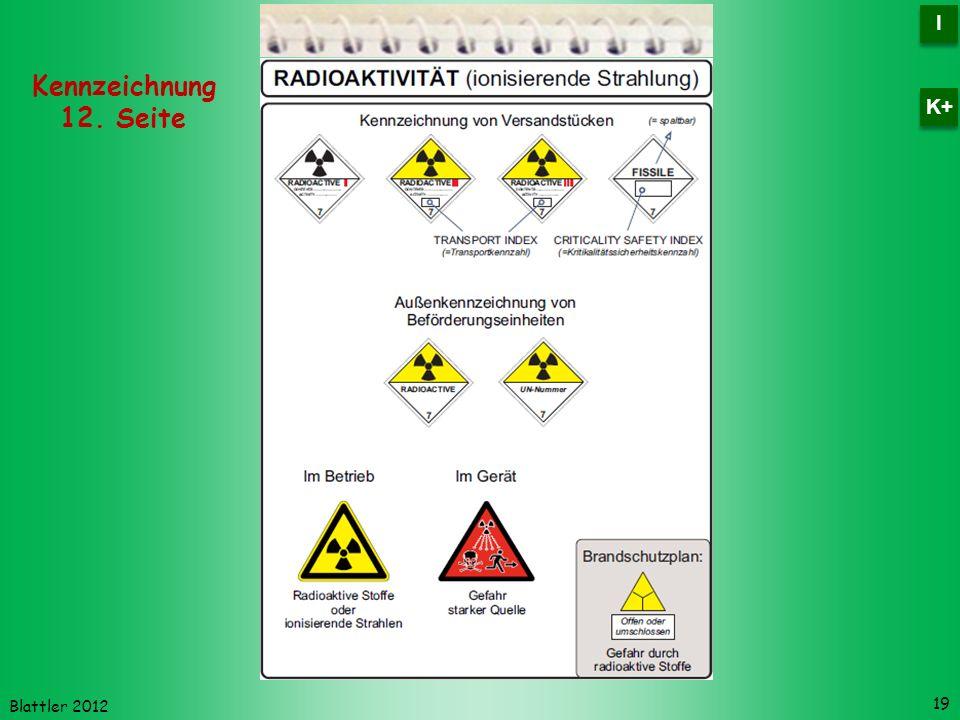 I K+ Kennzeichnung 12. Seite Blattler 2012
