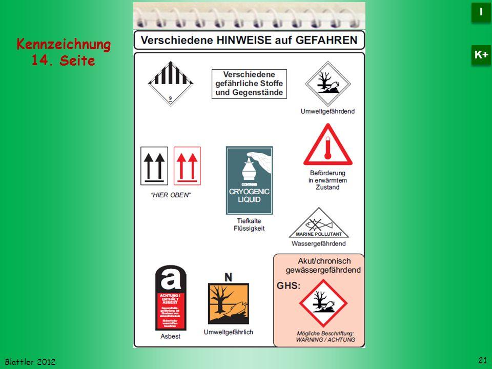 I K+ Kennzeichnung 14. Seite Blattler 2012