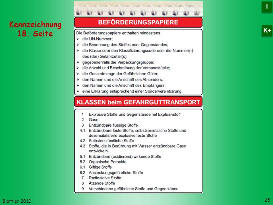 I K+ Kennzeichnung 18. Seite Blattler 2012