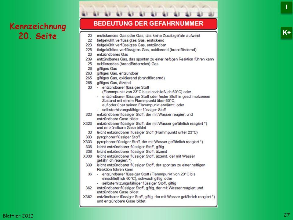 I K+ Kennzeichnung 20. Seite Blattler 2012