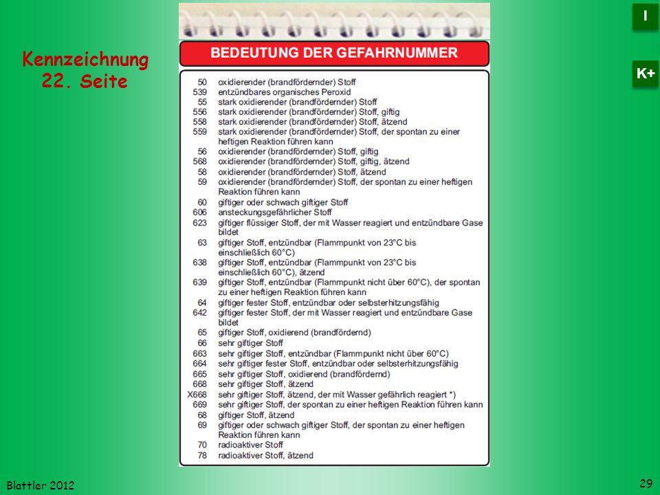 I K+ Kennzeichnung 22. Seite Blattler 2012