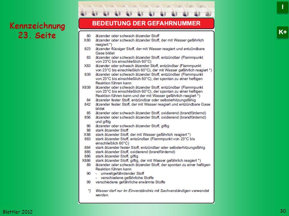 I K+ Kennzeichnung 23. Seite Blattler 2012