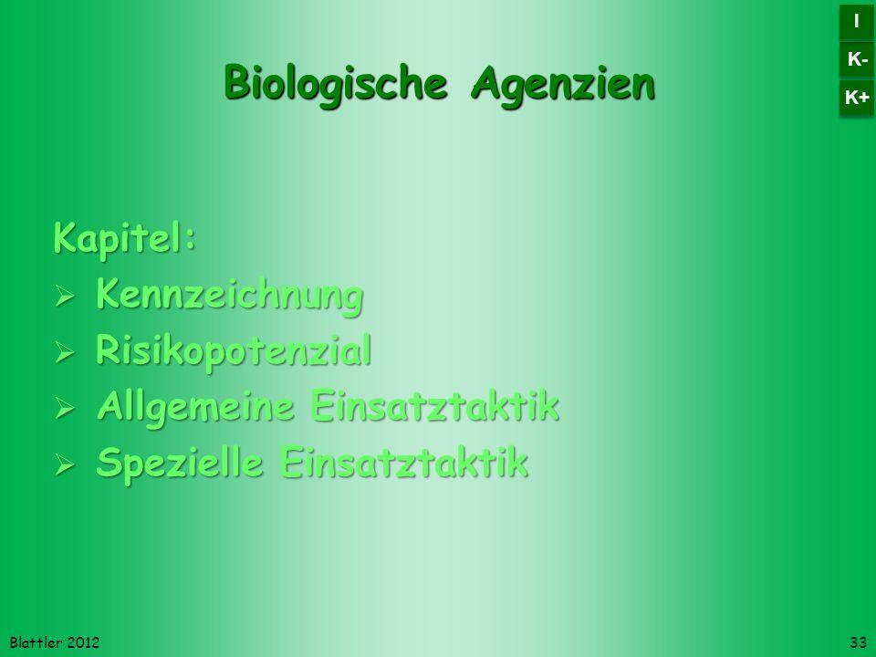 Biologische Agenzien Kapitel: Kennzeichnung Risikopotenzial