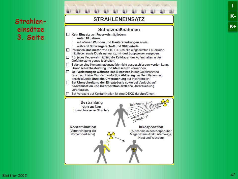 Strahlen- einsätze 3. Seite