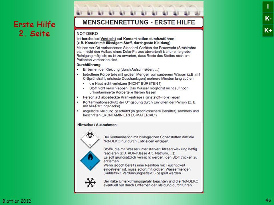 K- I K+ Erste Hilfe 2. Seite Blattler 2012