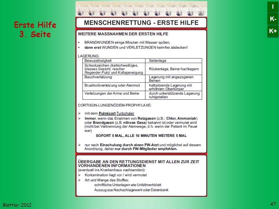 K- I K+ Erste Hilfe 3. Seite Blattler 2012