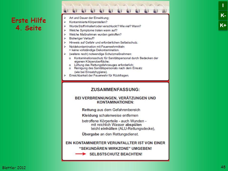 K- I K+ Erste Hilfe 4. Seite Blattler 2012
