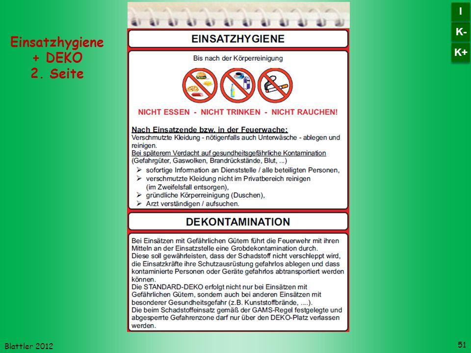 Einsatzhygiene + DEKO 2. Seite