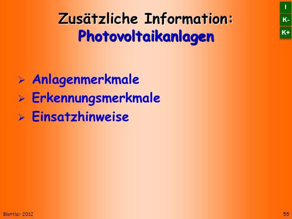 Zusätzliche Information: Photovoltaikanlagen