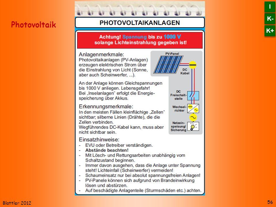 K- I K+ Photovoltaik Blattler 2012