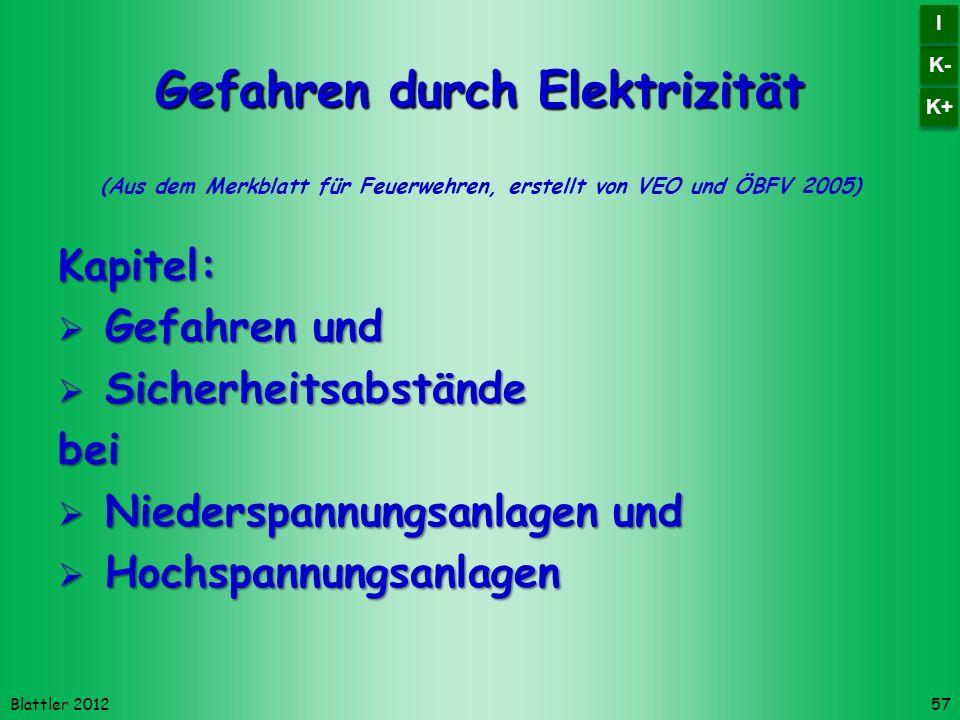Gefahren durch Elektrizität
