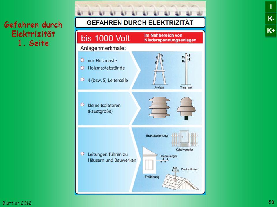 Gefahren durch Elektrizität 1. Seite