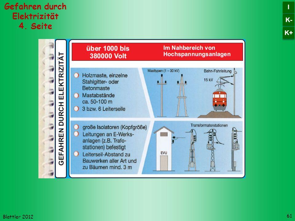 Gefahren durch Elektrizität 4. Seite