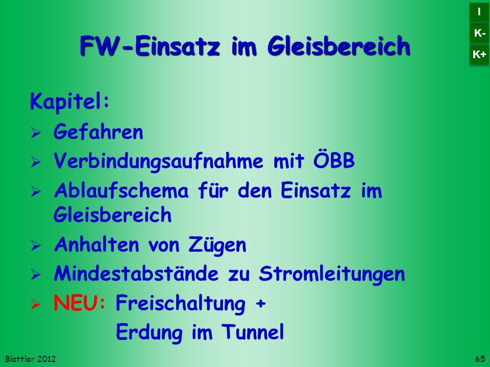 FW-Einsatz im Gleisbereich