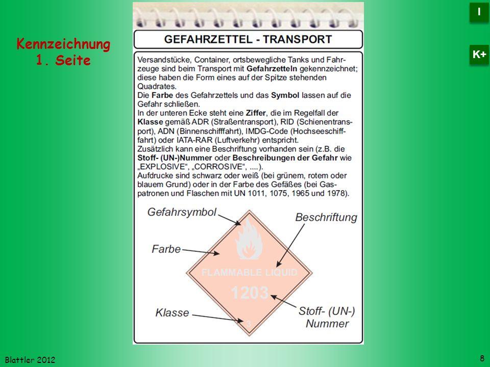 I K+ Kennzeichnung 1. Seite Blattler 2012