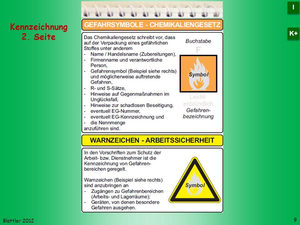 I K+ Kennzeichnung 2. Seite Blattler 2012