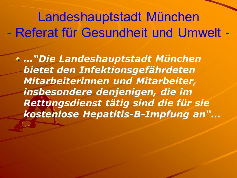 Landeshauptstadt München - Referat für Gesundheit und Umwelt -