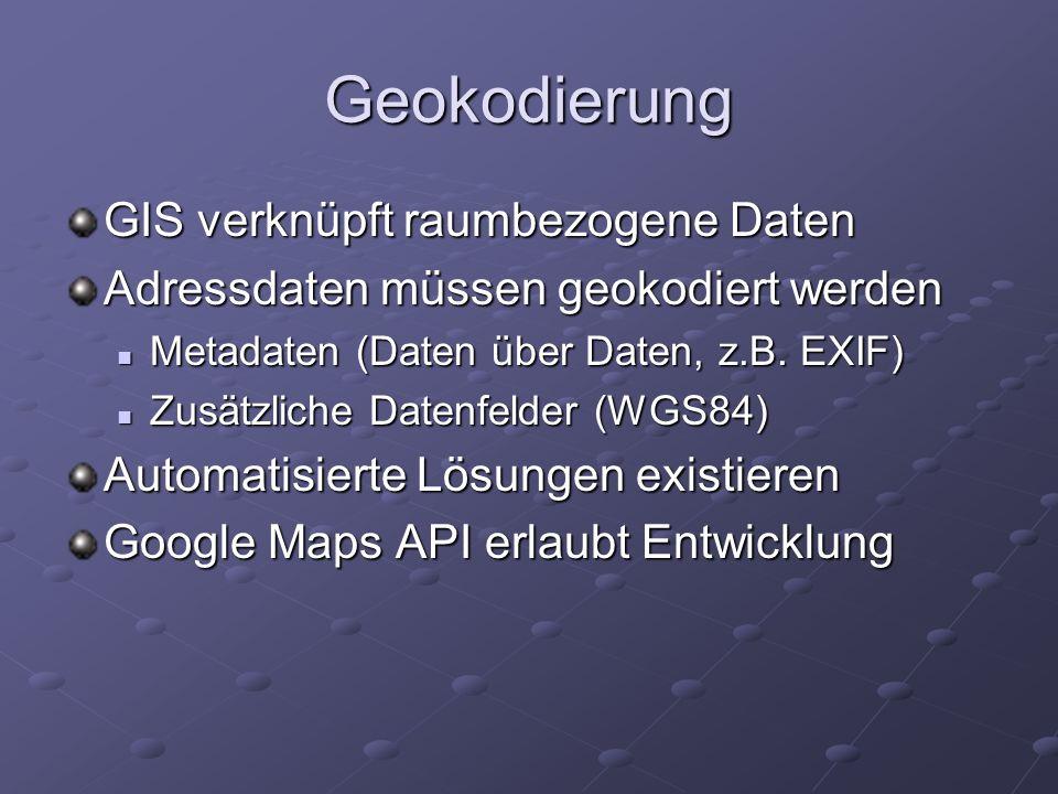Geokodierung GIS verknüpft raumbezogene Daten