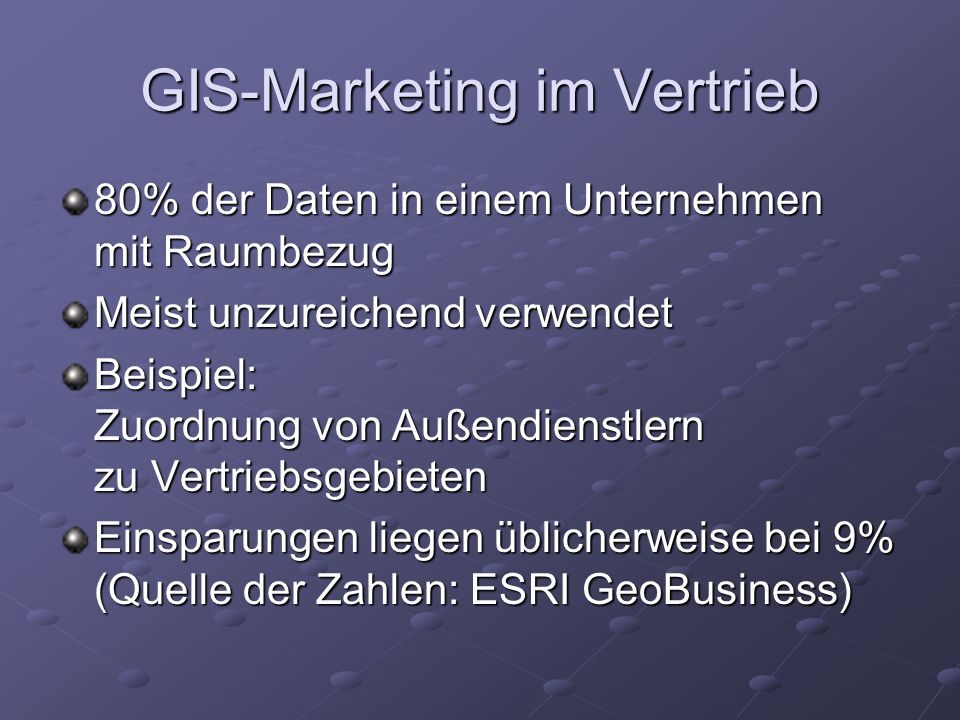 GIS-Marketing im Vertrieb