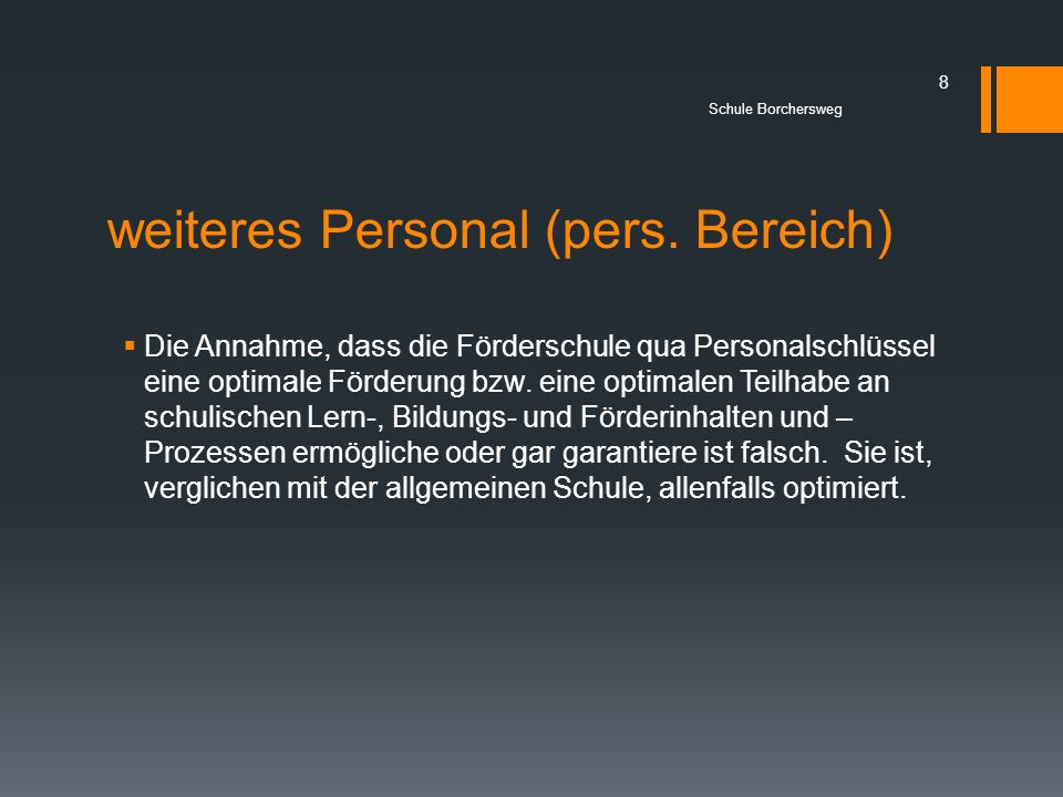 weiteres Personal (pers. Bereich)
