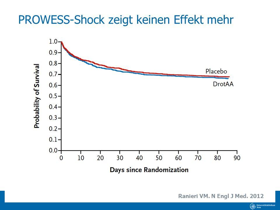 PROWESS-Shock zeigt keinen Effekt mehr