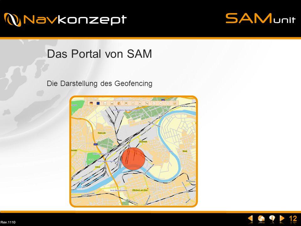 Das Portal von SAM Die Darstellung des Geofencing
