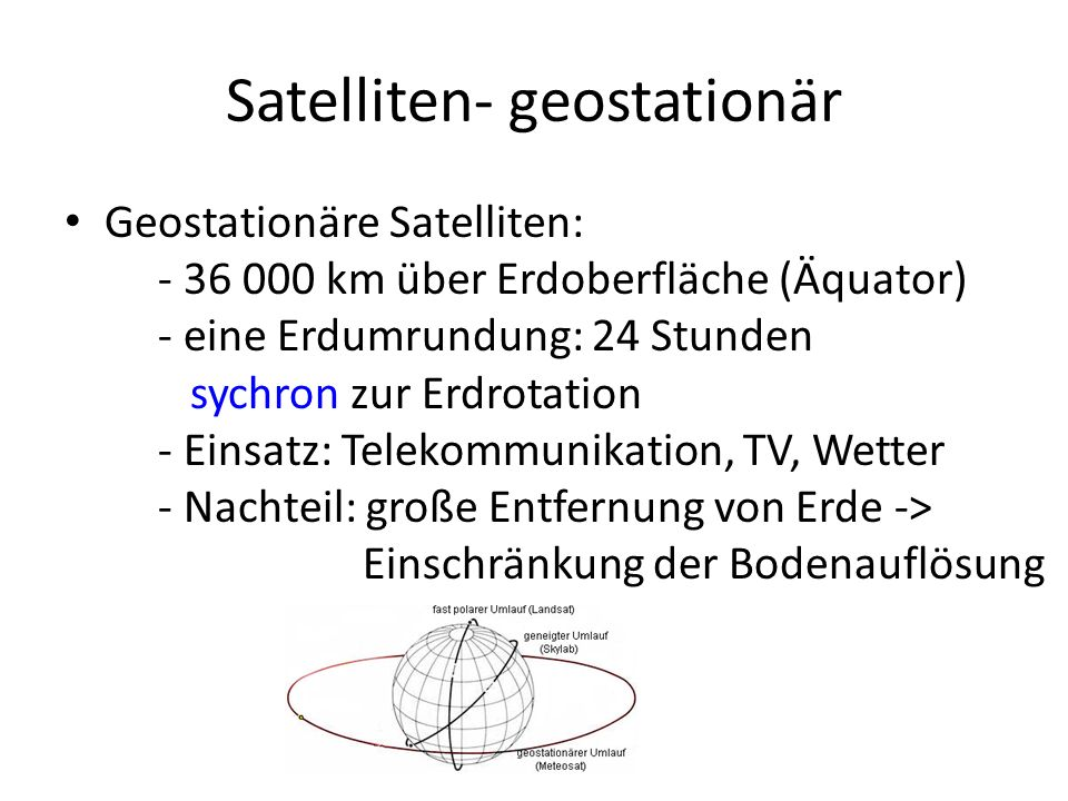 Satelliten- geostationär