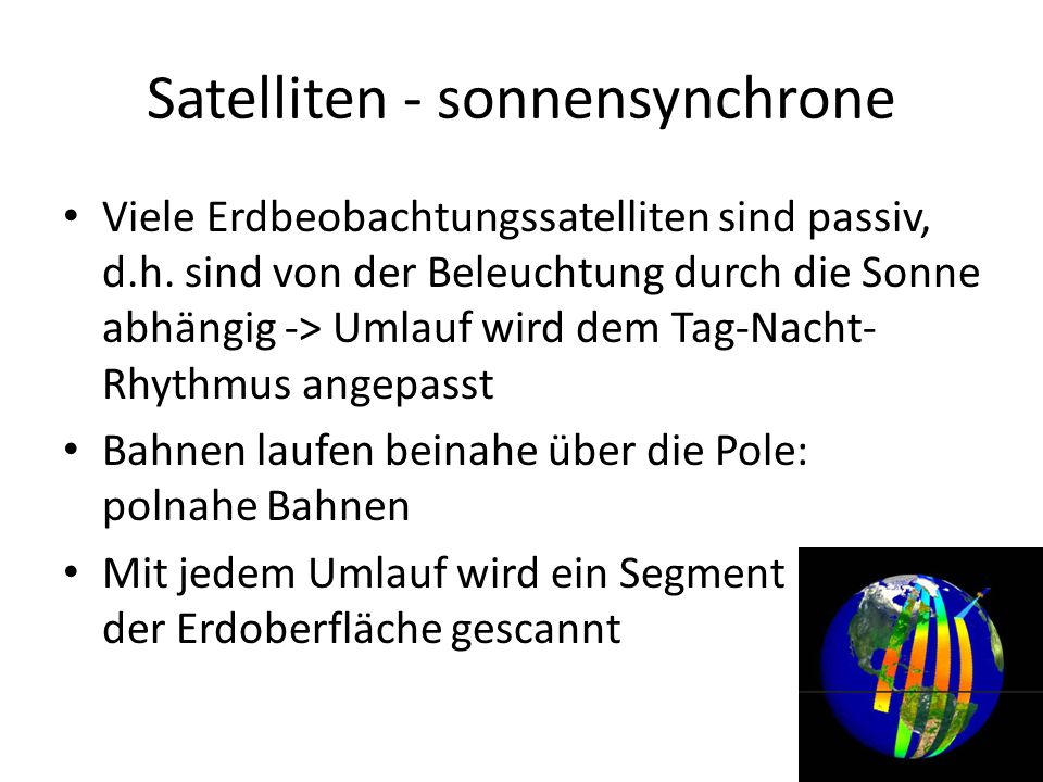 Satelliten - sonnensynchrone