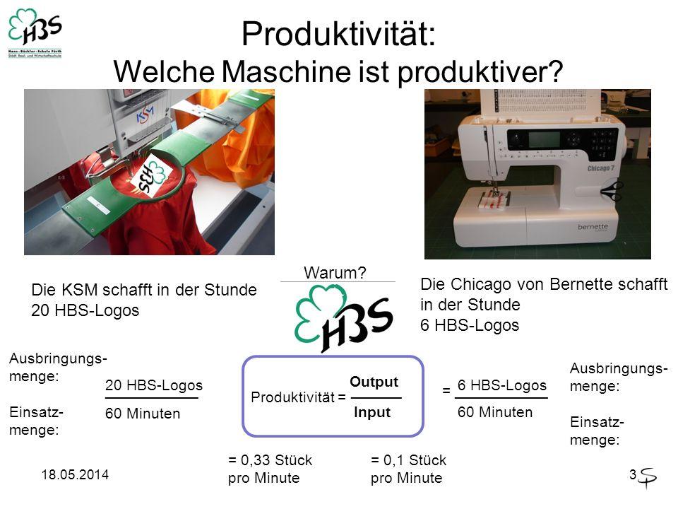 Produktivität: Welche Maschine ist produktiver